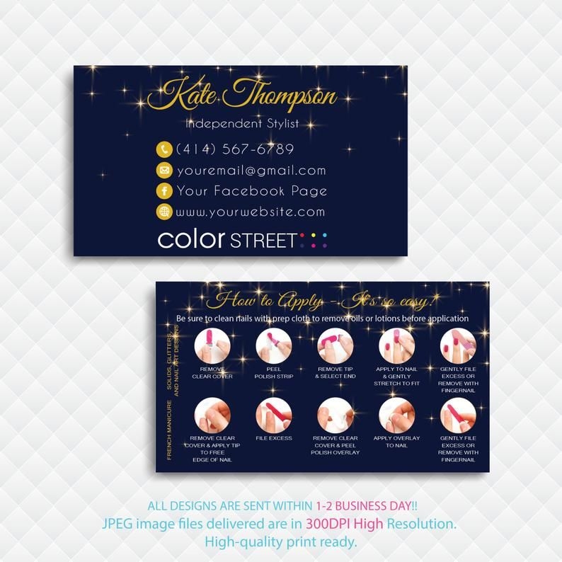 ColorStreet Business Cards, Color Street Application, How