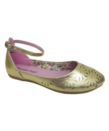 Love this Gold Lola Ballet Flats on #zulily! #zulilyfinds