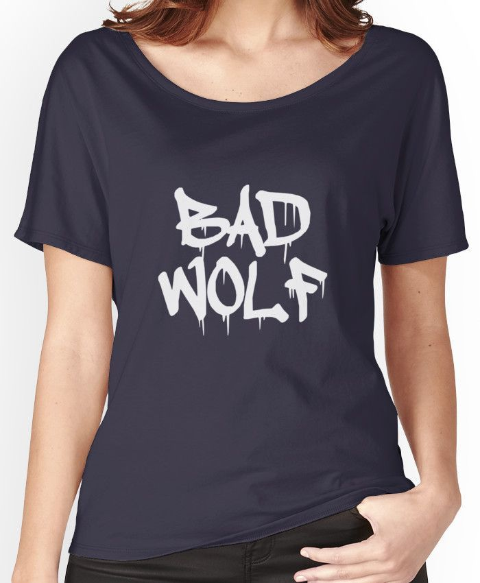 Bad Wolf #1 - White Women's Relaxed Fit T-Shirts