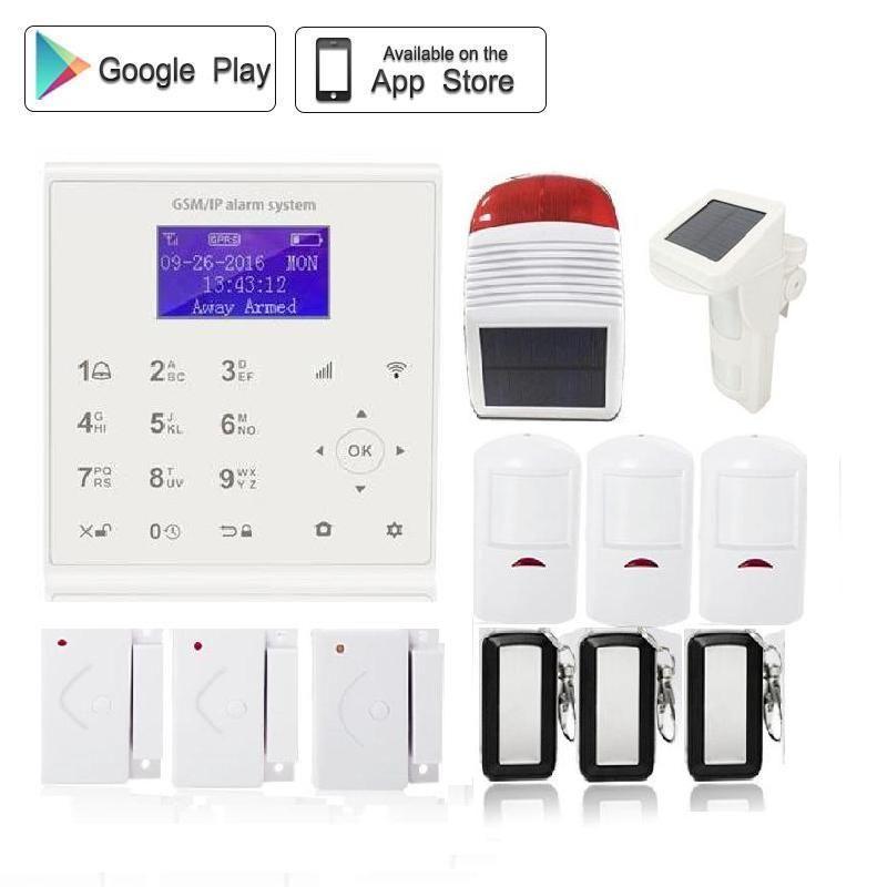QOLELARM Polish/Spanish SMS GPRS WIFI GSM Alarm Systems Security