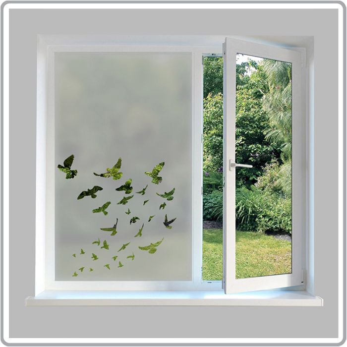 Nature Inspired Etch Glass Window Film Designs | Frosted ...