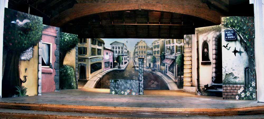 Trompe l 39 oeil for theatre graffiti d coration trompe l for Decoration trompe l oeil
