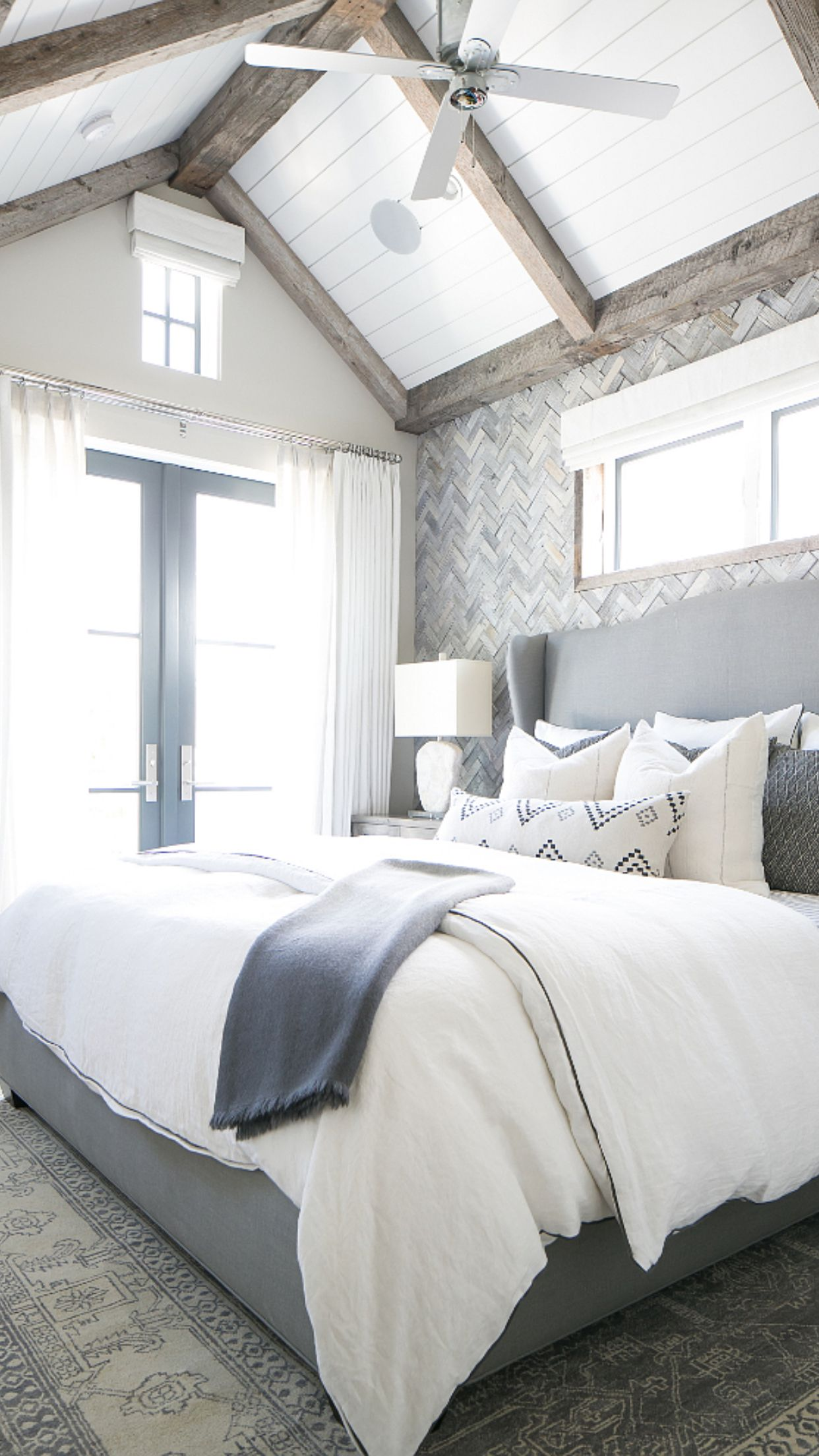This Master Bedroom Feels Very Original Plank Ceiling Paint Color