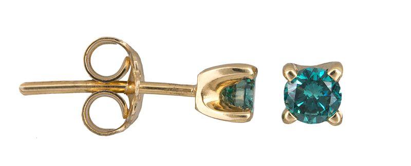 Χρυσά σκουλαρίκια με μπλε διαμάντια Κ18 021372  bc96d021ea0
