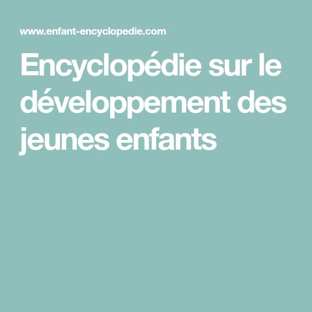 encyclopedie sur le developpement des jeunes