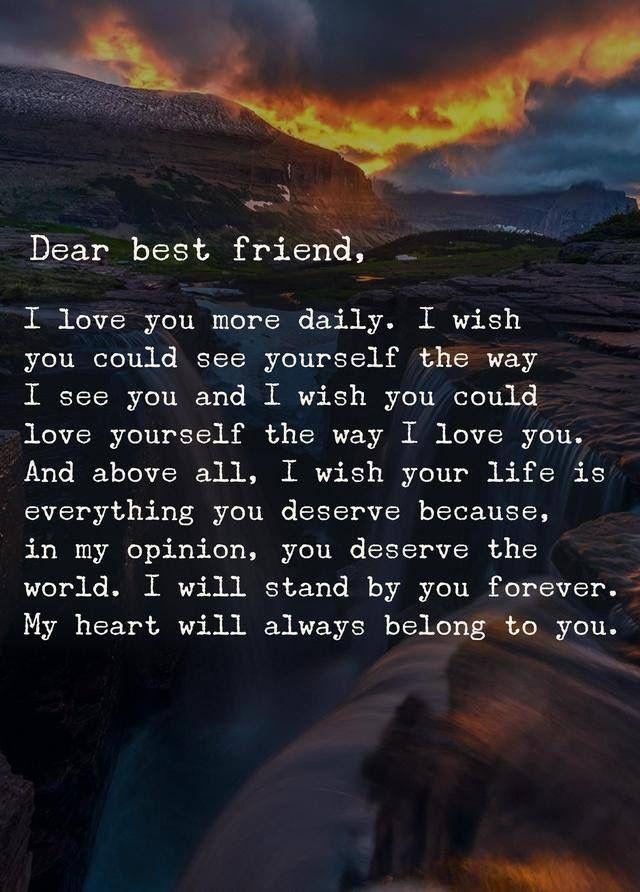Dear Best Friend Anam Cara Citas Caras
