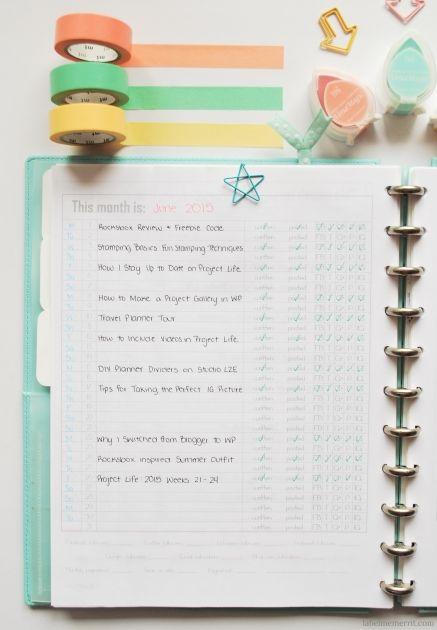 Organized Blog Planner Tour by LabelMeMerrit.com