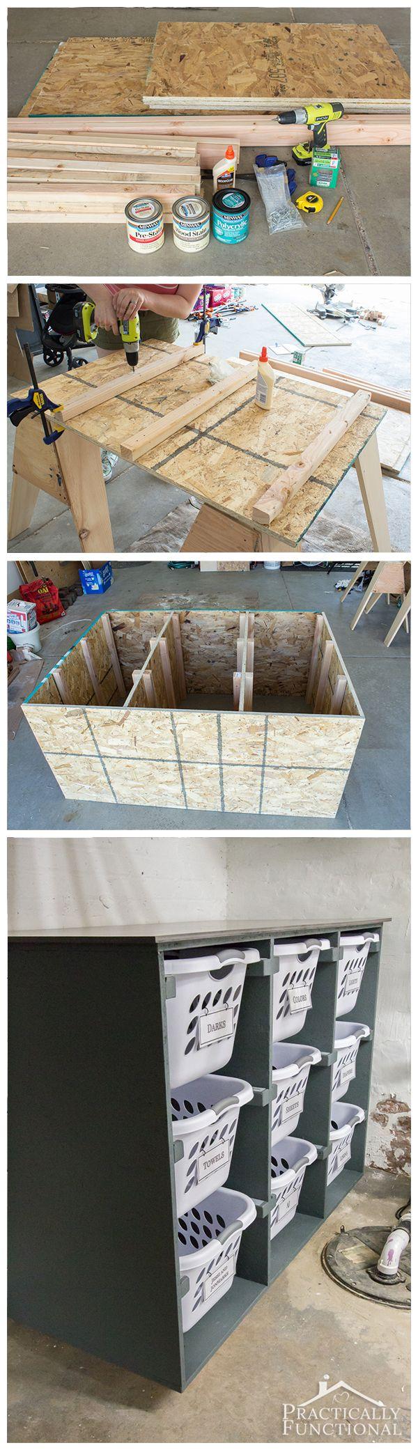bauen sie eine einfache w schekorb kommode halten sie ihre waschk che organisiert verstaut 9. Black Bedroom Furniture Sets. Home Design Ideas