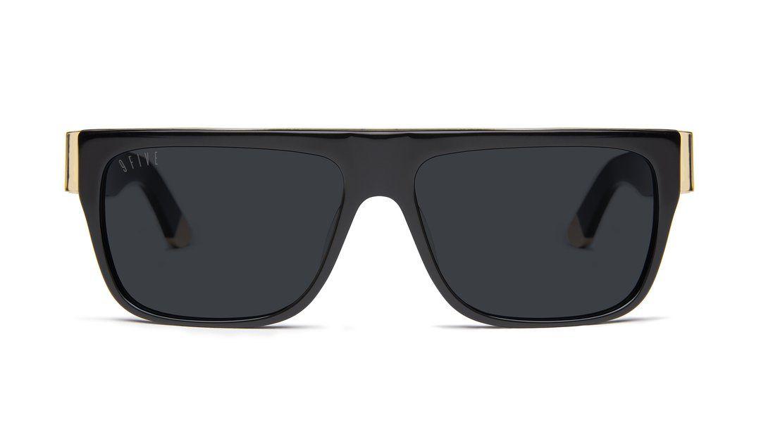 19caecd74929d 9FIVE 22 Black   24k Gold Sunglasses