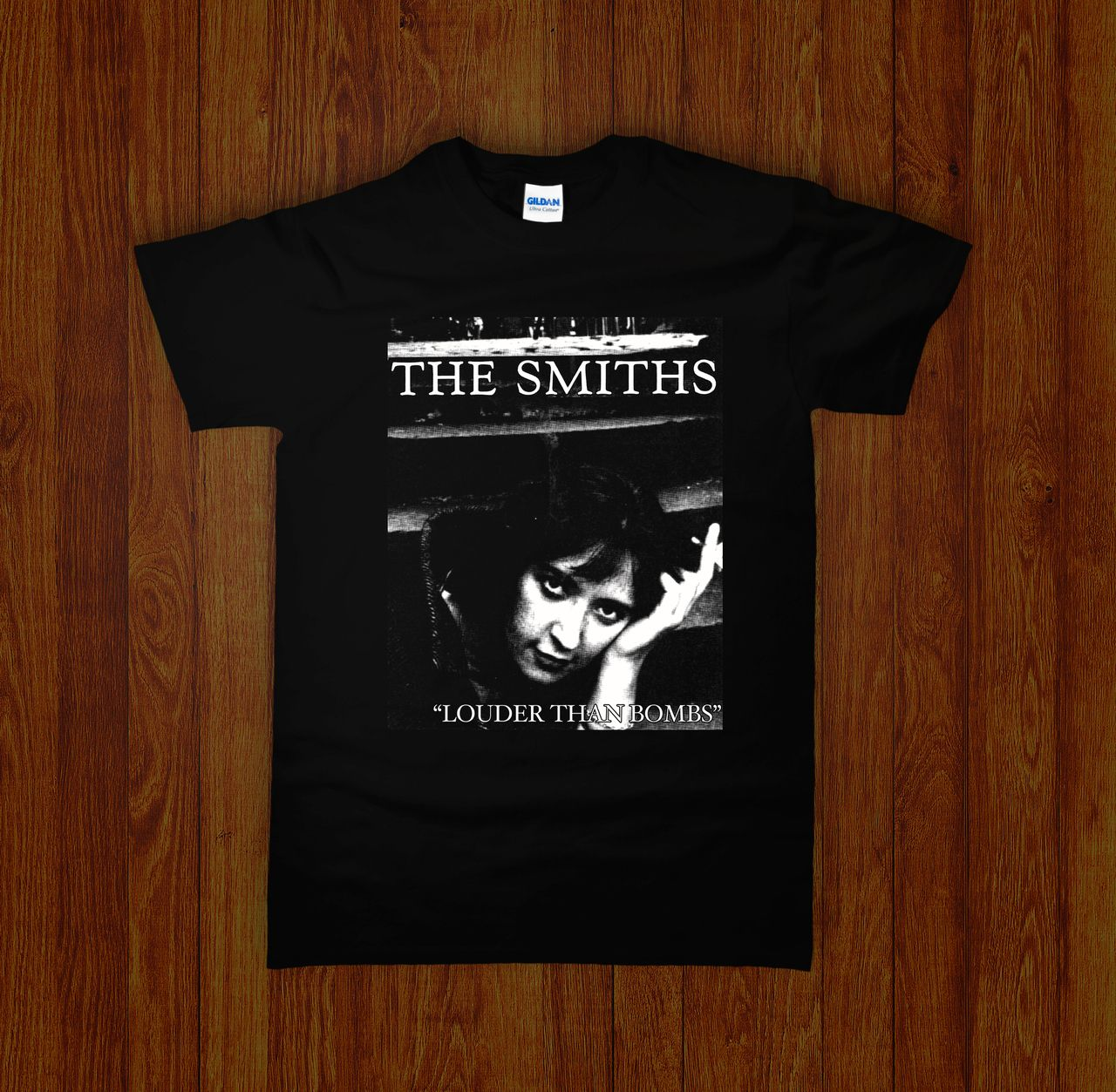 The Smiths Louder Than Bombs T-Shirt pour Les Hommes Rouge//Medium