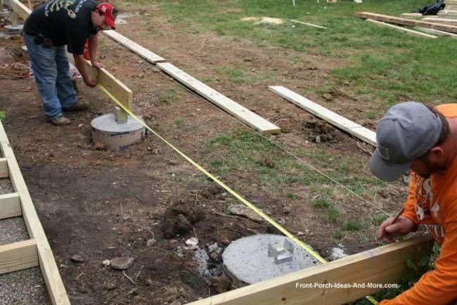 Porch Foundations | Decks | Mobile home addition, Mobile home