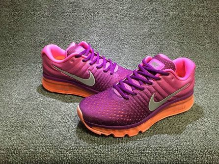 Youth Big Boys Nike Air Max 2017 849560 502 Running Shoes Purple Pink 89560181a