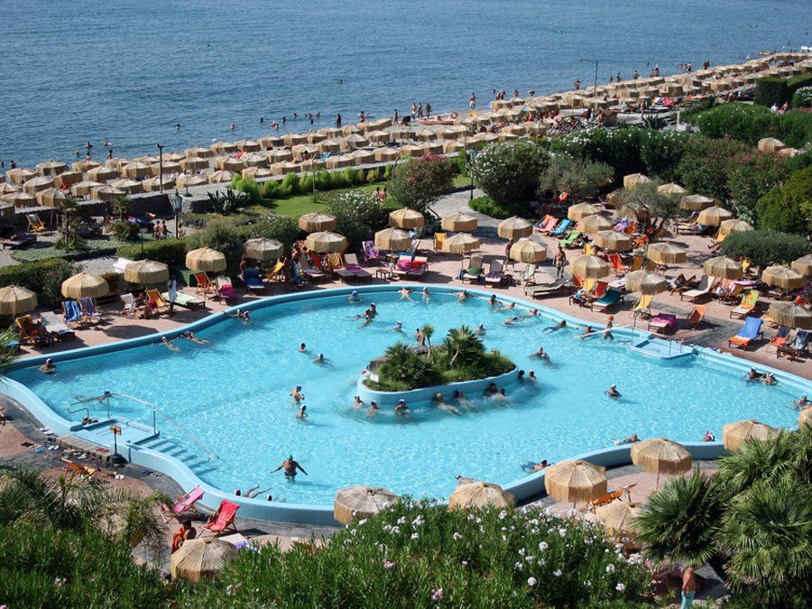 Relax in the thermal pools of Ischia, an island off the