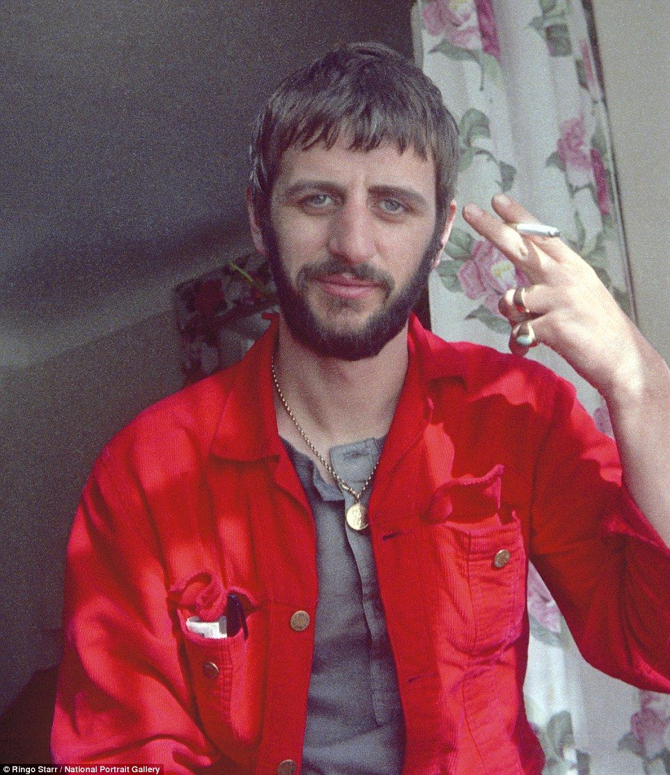 Self Portrait A Snap Of Ringo Starr Taken By The Man Himself At Home Enjoying Cigarette In 1970