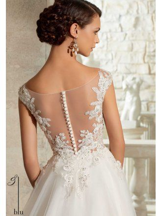 Sheer Back Bridal Gown Thecotswoldfrockshopcouk Wedding Dresses C1 Mori Lee 5317 Crystal Beading On Tulle Ivory Gold P2343