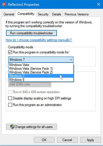 Windows 10 Does Have The Program Compatibility Mode Used To Run