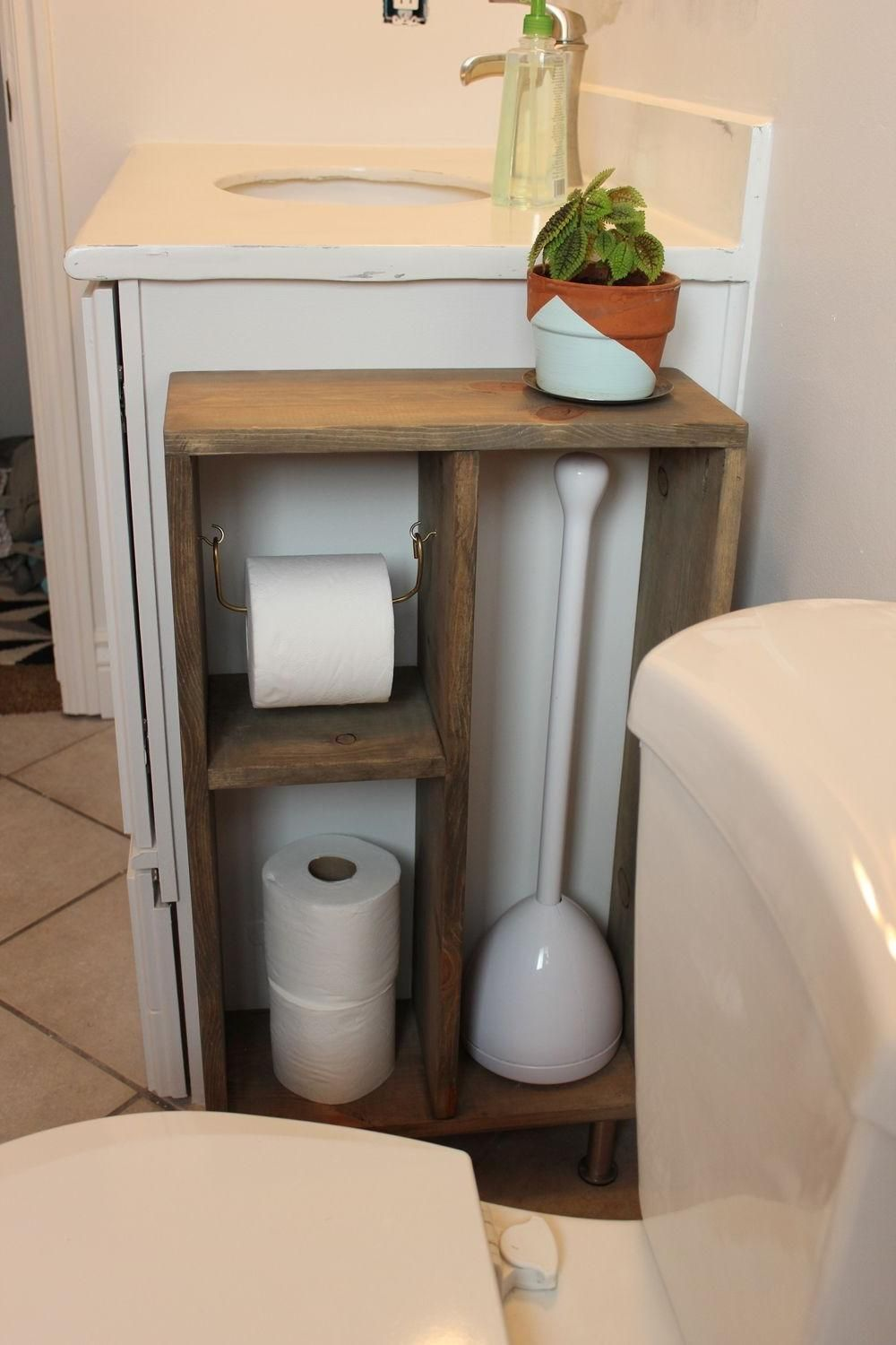 50 Best Diy Toilet Paper Holder Ideas And Designs You Ll Love Interiorsherpa Diy Toilet Paper Holder Wood Toilet Paper Holder Toilet Paper Storage