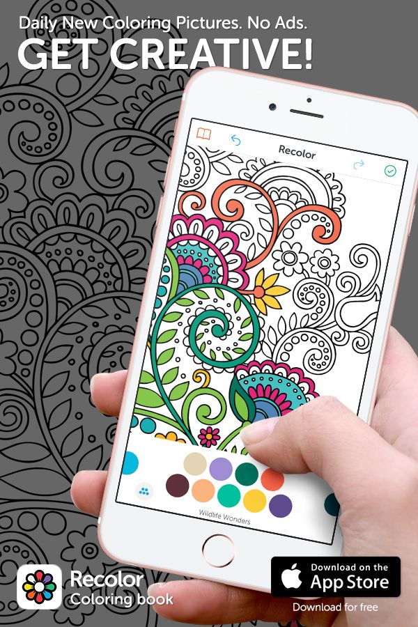 Recolor Is The World S Favourite Coloring Book On Mobile Join Millions Of People Rediscovering The Relaxation Of Coloring Coloring Books Coloring Pages Color