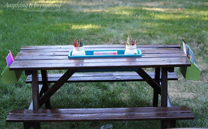 Turn A $34 Home Depot Picnic Table Into The Coolest Activity Spot For Kids
