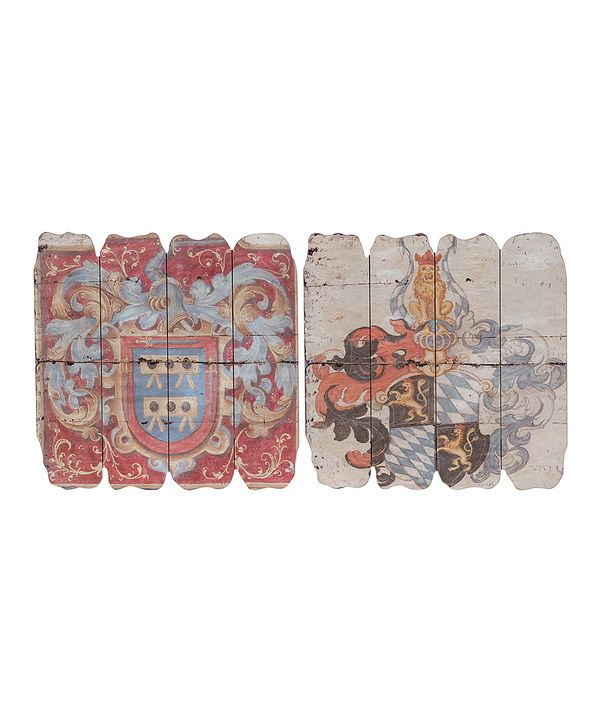 Look at this Medieval Emblem Wall Art Set on #zulily today!