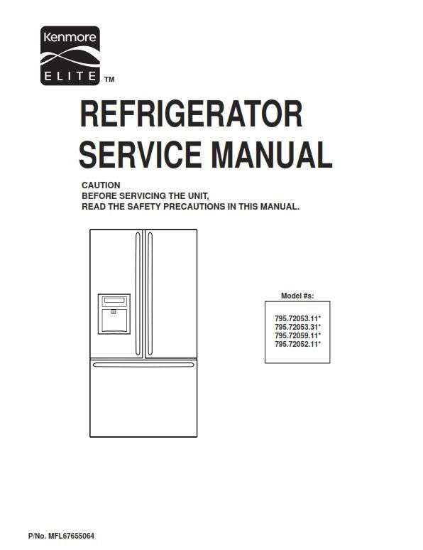 kenmore elite 795 72052 72053 72059 service manual and repair rh pinterest com kenmore repair manuals washing machines kenmore repair manuals washing machines