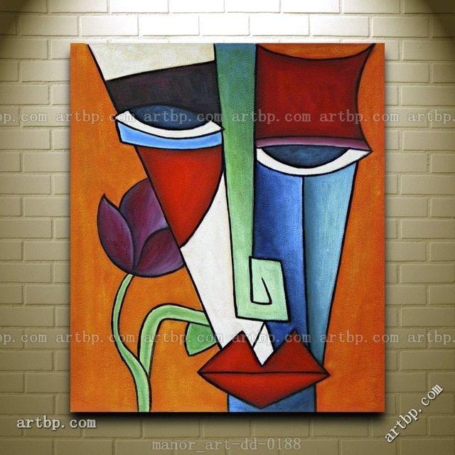 نتيجة بحث الصور عن رسومات تكعيبيه Colorful Abstract Art Purple Art Abstract Abstract Canvas Wall Art