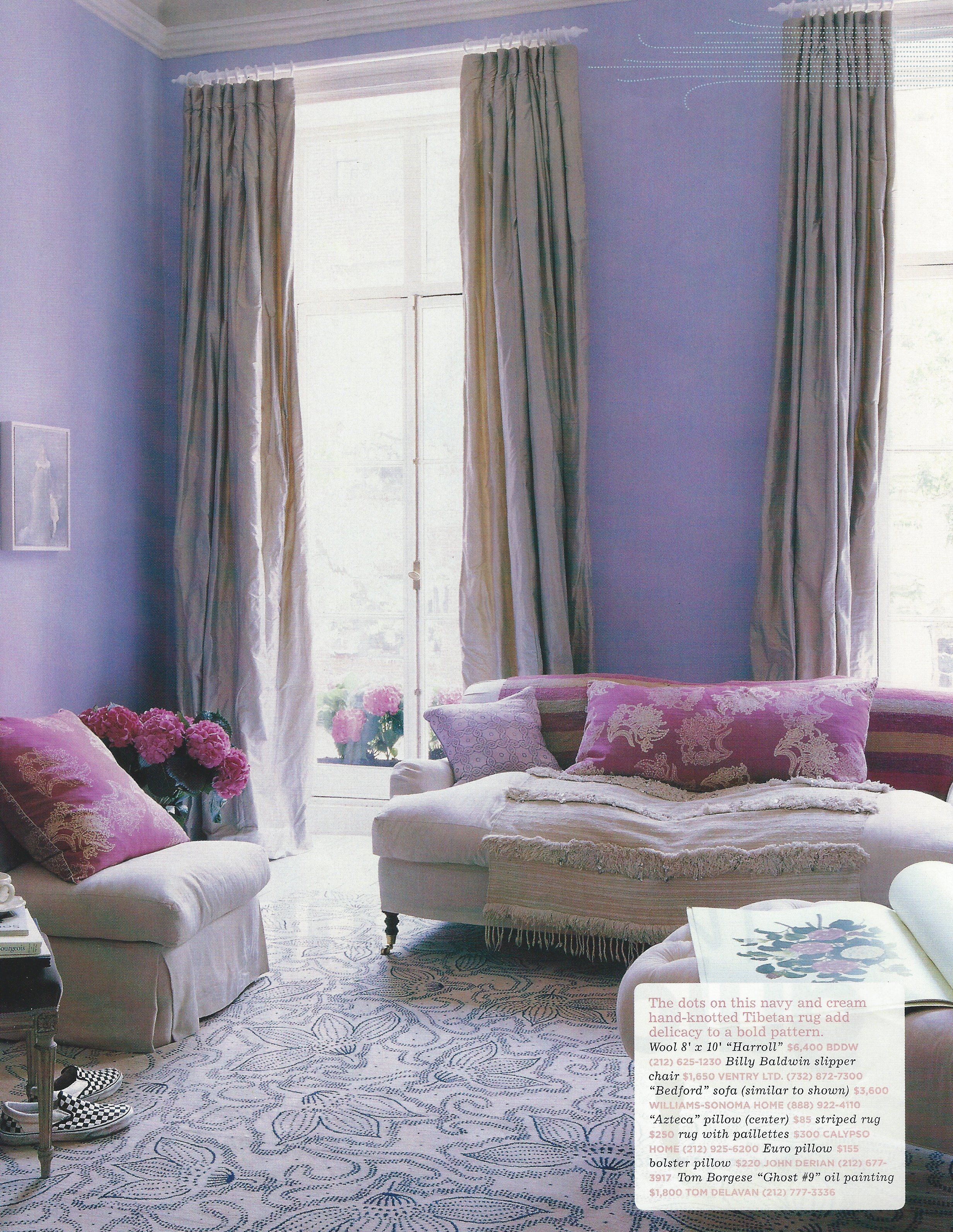 Lavender And Purple Are Lurple Purple Living Room Lavender Living Rooms Interior Design Living Room #plum #living #room #curtains
