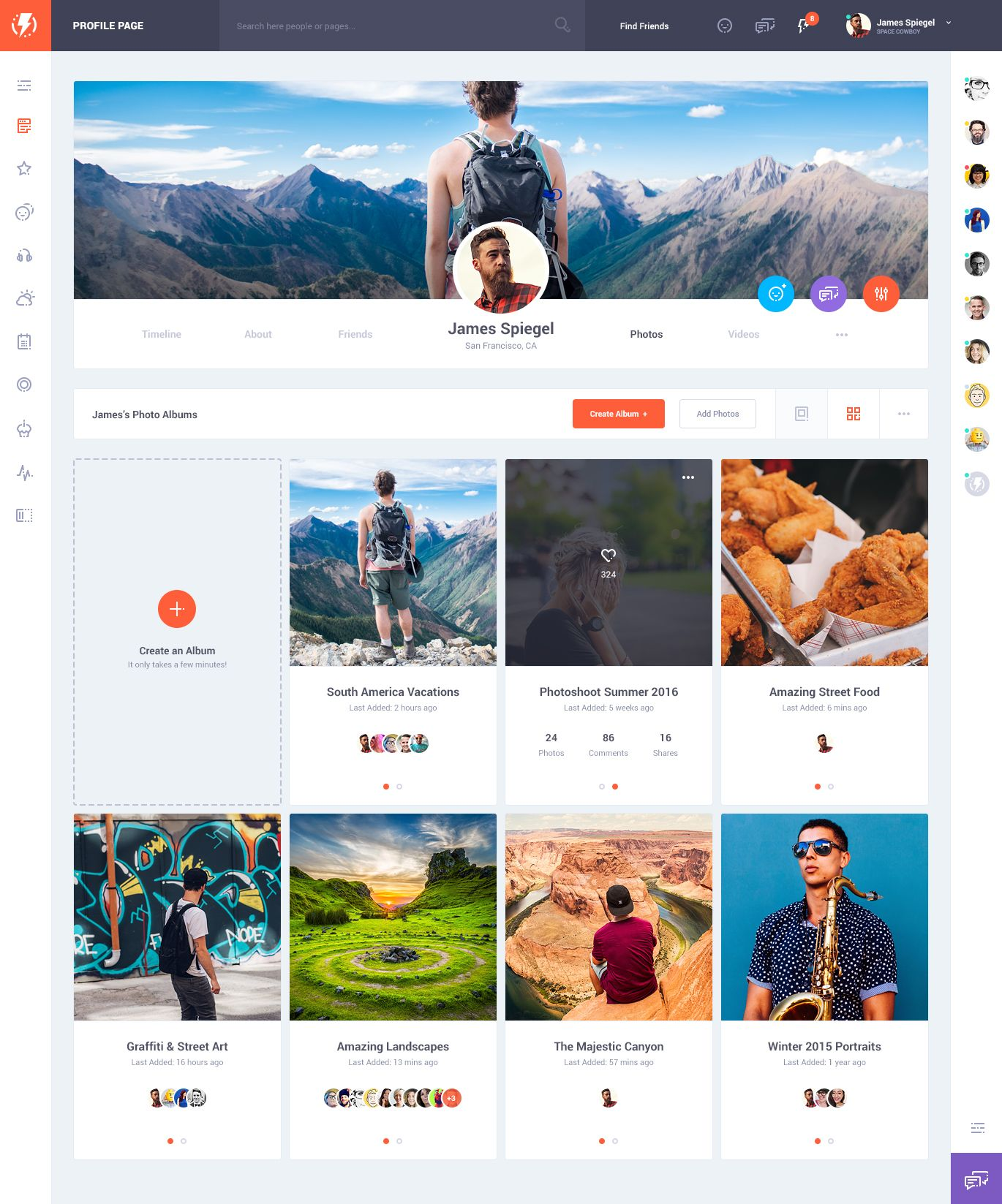 social networks templates