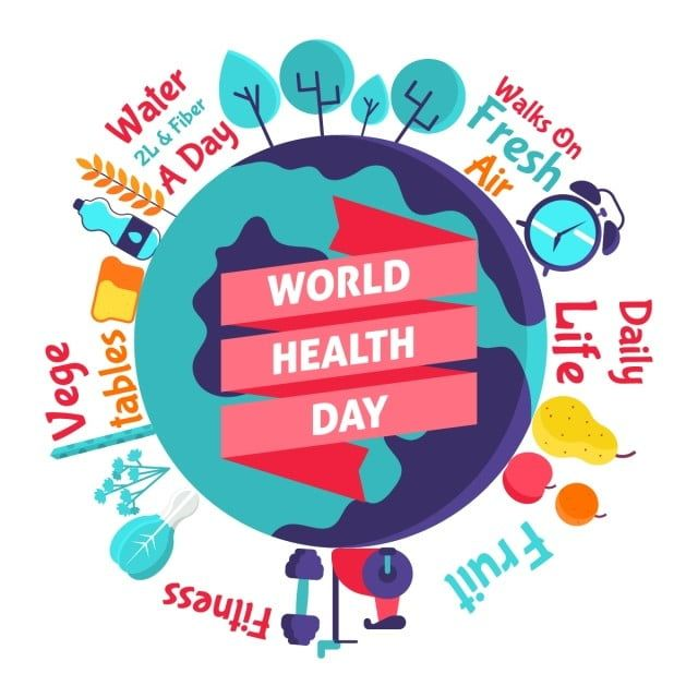 World Health Day Illustration Life April Background Png And Vector With Transparent Background For Free Download In 2020 World Health Day Health Day World Cancer Day