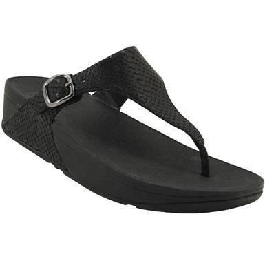 d440ece6402545 FitFlop The Skinny Comfy Flip Flops - Womens Black Snake