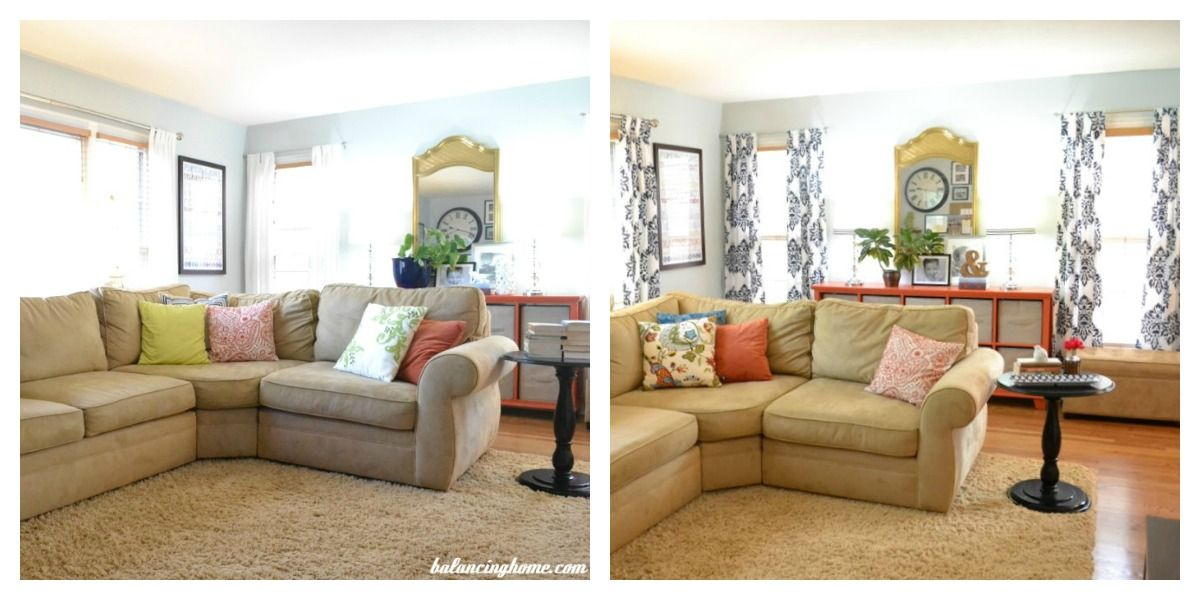 Before and after, what a difference the right window treatments can
