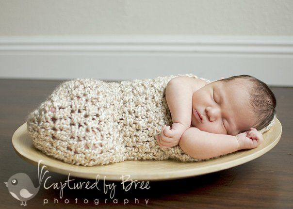 Bolsita Cocoon Para Beb Inspiracin Crochet Hooded Cocoon