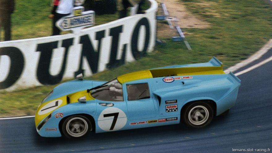 24 Heures Du Mans 1968 Lola T70 7 Pilotes Ulf Norinder Sten Axelsson Disqualification Le Mans Slot Racing Racing