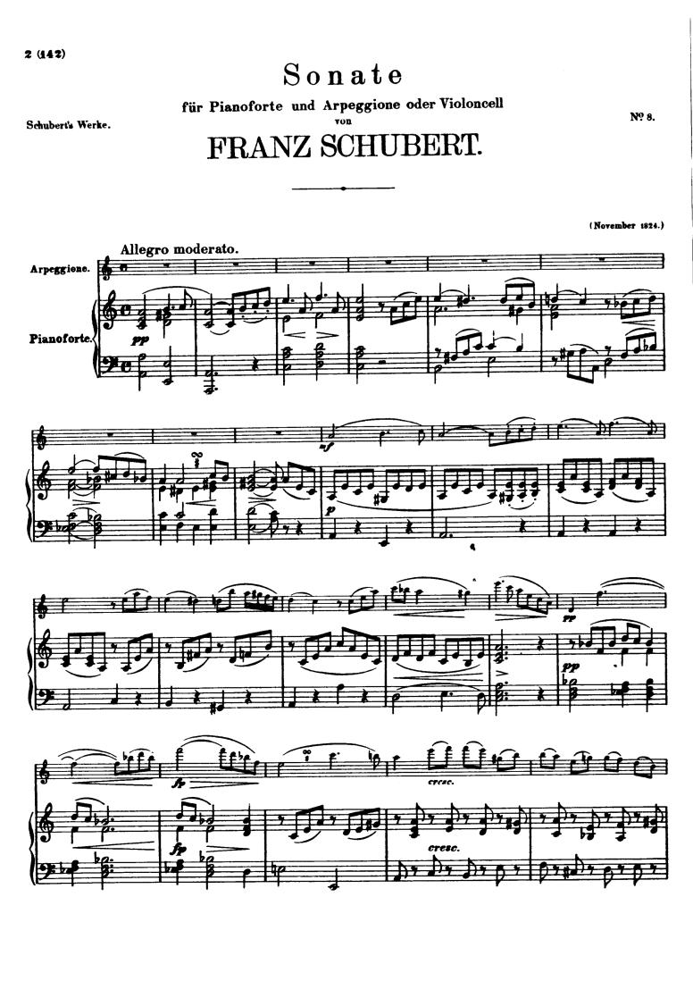 Arpeggione Sonata, D 821 (Schubert, Franz) - IMSLP/Petrucci Music