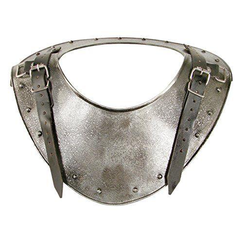 Armor Venue Medieval Dark Warrior Gorget Neck Body Armour Silver One Size Dark Warrior Medieval Knight Body Armor