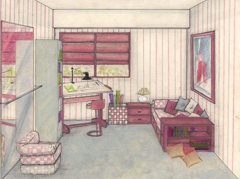 dibujos con acuarela habitaciones - Buscar con Google ...