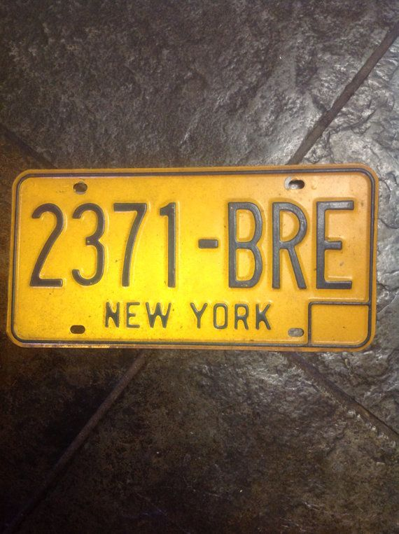 Vintage Old 1970 New York Gold License Plate Car With Images
