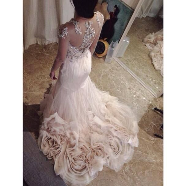 Gown By Singapore Based Time Taken To Make A Dress Chic Wedding Dresses Wedding Dress Tulle Lace Wedding Dresses