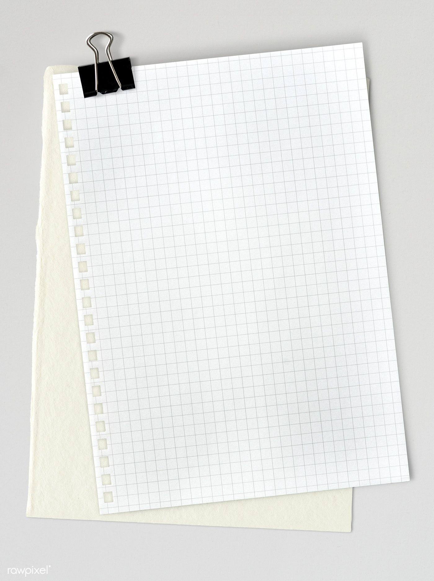 Download premium psd of Blank white grid paper template