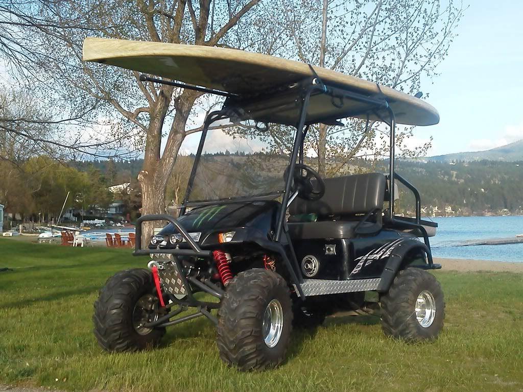 Surfboard Rack On Golf Cart Golf Carts Lifted Golf