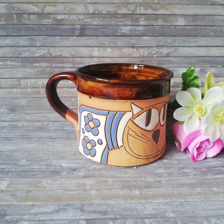 Tasse  mit Katzen Kaffeetasse Becher 380ml