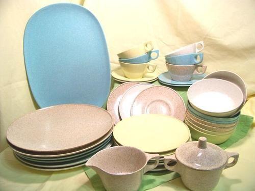 Texas Ware Melmac Quality Melamine Dinnerware Speckaled Pattern Vintage 1950u0027s & Texas Ware Melmac Quality Melamine Dinnerware Speckaled Pattern ...
