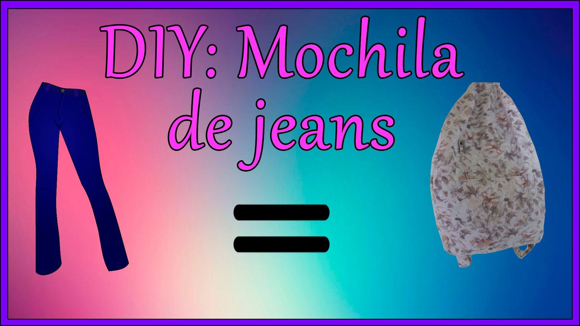 DIY: Mochila de jeans   Backpack denin
