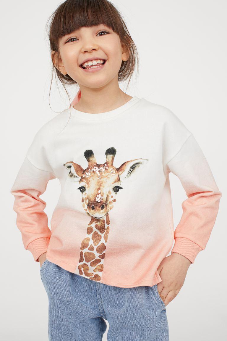 Giraffe Sweatershirt for Toddler Long Sleeve Pullover Crewneck Cotton Sweatshirt for Children