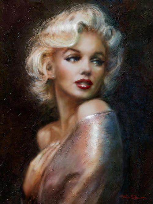 - Maxi Poster 61cm x 91.5cm PP33769 Paint Marilyn Monroe James Paterson F06