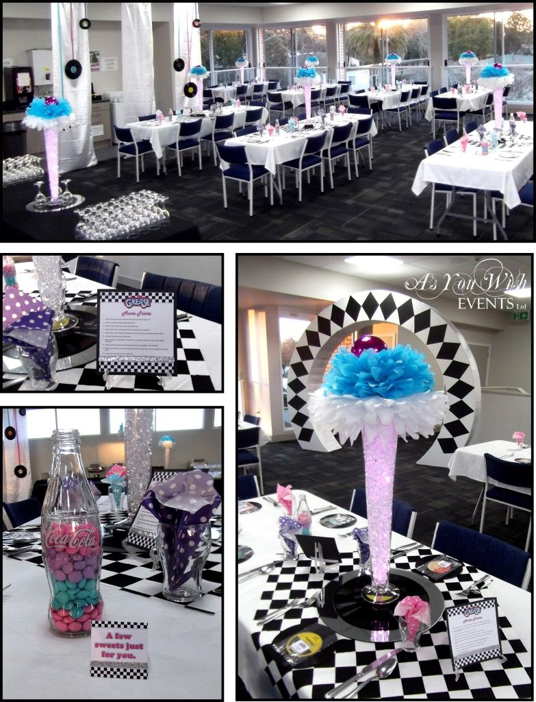 decoration ideas grease themed party