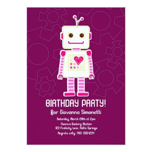 Приглашение на день рождения роботы открытка, поздравление