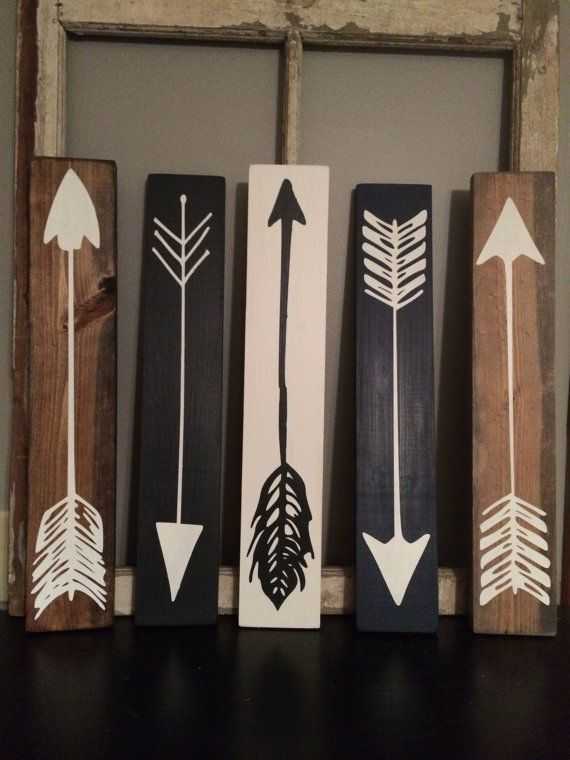 Wood Arrows Wood Sign Set Of 3 por FarmhouseSigns01 en Etsy