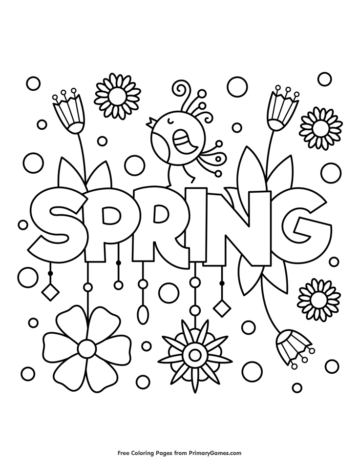 Spring Coloring Pages eBook Spring