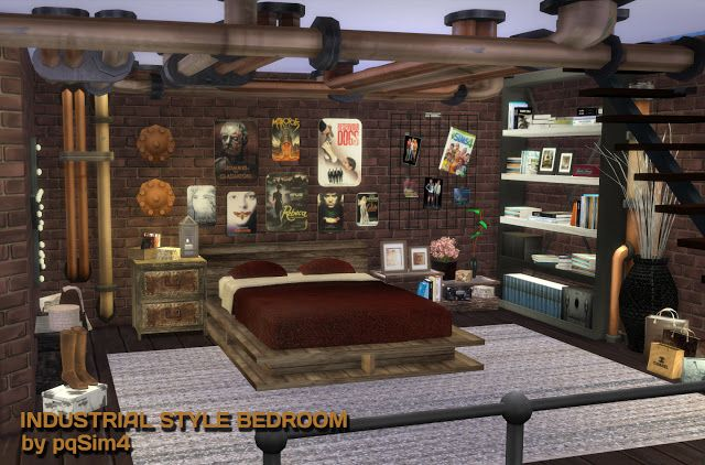 Sims 4 Industrial Style Bedroom pqSim4 Sims 4 Bedroom Sets
